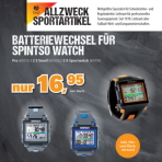 Batteriewechsel Spintso Watch - battery exchange for Spintso watches