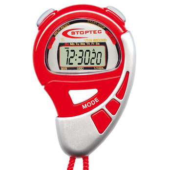 Stoppuhr 'Stoptec l' rot