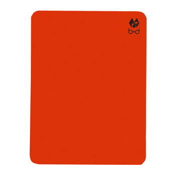 Rote Karte, neonrot  - disciplinary card, neon red