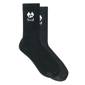 b+d Sportsocken - socks with b+d logo black
