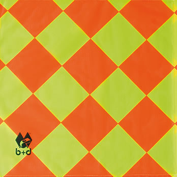Ersatzfahnentuch kleinkartiert - replacement flag cloth small chequered