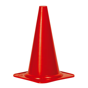 Markierungs- und Trainingskegel rot - Marking and training cone red