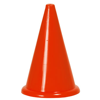 Markierungskegel ohne Bodenrand, rot, 24 cm - Marking cone without bottom edge, red, 24 cm