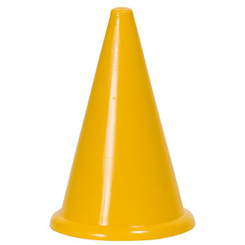 Markierungskegel ohne Bodenrand, gelb, 24 cm - Marking cone without bottom edge, yellow, 24 cm