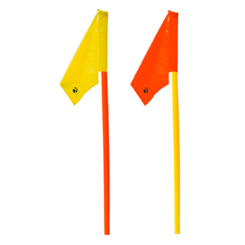 Fahnentuch für Slalomstange, neon-gelb - flag cloth for slalom pole, neon yellow