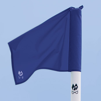 Ersatzfahnentuch blau für Begrenzungsstangen - replacement flag cloth for corner pole