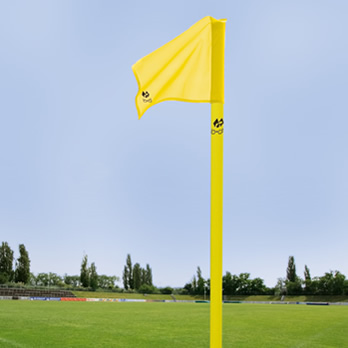 Eckstange gelb/50mm, neon gelb - corner pole yellow/50 mm, flag cloth neon yellow