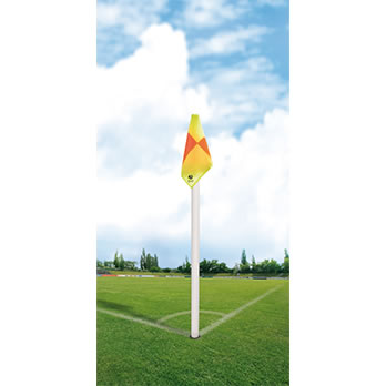 Eckstange weiß/50mm, kariert - corner pole WHITE/50mm, chequered flag cloth