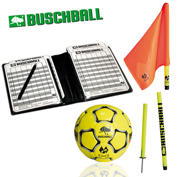 Buschball Deluxe-Set 2go neon-gelbe Stange / rote Fahne